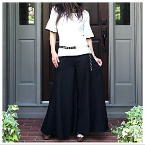 Pants - Black wide leg ankle pants